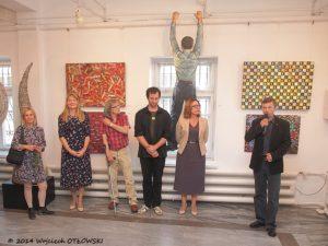 Na zdj (od prawej): Andrzej Zujewicz, Bożena Kamińska, Mieczysław Iwaszko, Jerzy Malinowski, Halina Mackiewicz, Beata Kochańska.