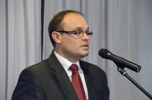 Na zdj. Karol Korneluk, kandydat na prezydenta Suwałk.