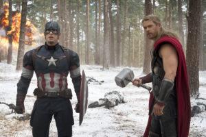 Kapitan Ameryka i Thor.