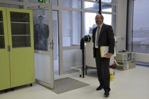 Prezes Kruszbetu, Jerzy Głowacki opowiada o planach wykorzystania laboratorium.