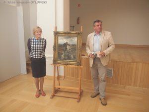 20.07.2016; Suwalki; Muzeum Okregowe. Prezentacja obrazu Alfreda Wierusza – Kowalskiego Pocztarek. © 2016 Wojciech Otlowski