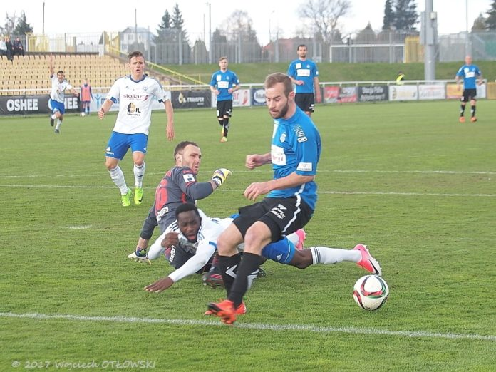 I Liga; Wigry Suwalki - Sandecja 0:1; 15.IV.2017
