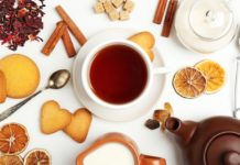 herbata, owoce